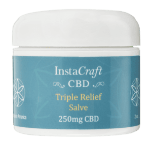 Front of Triple Relief Salve 250mg CBD by InstaCraft CBD png