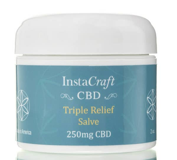 Front of Triple Relief Salve 250mg CBD by InstaCraft CBD